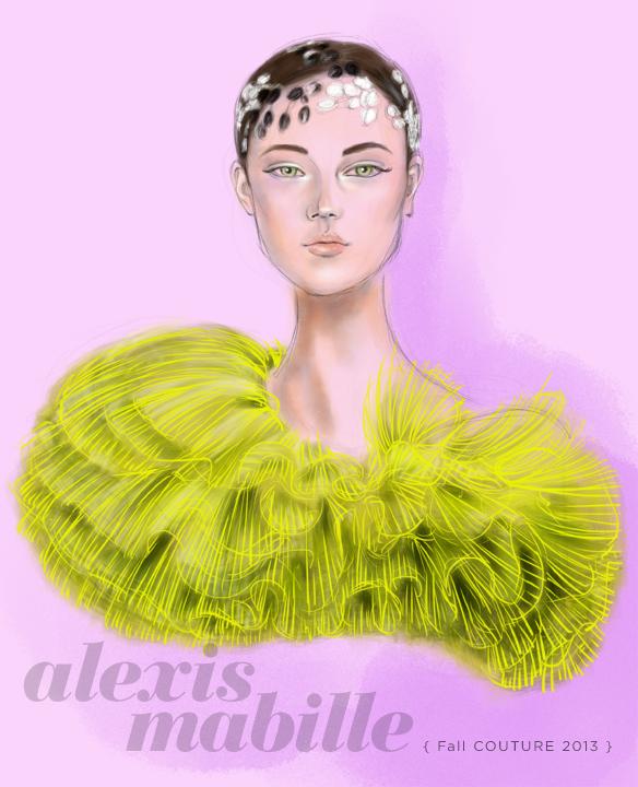 Alexis Mabille Fall 2013 fashion illustration