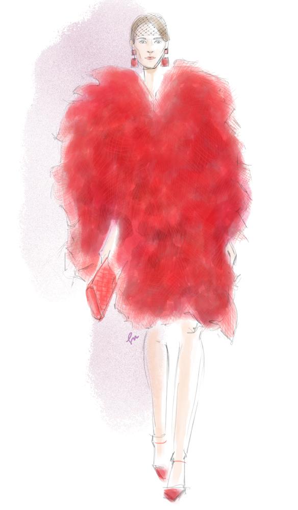 Armani Fall 2014 fashion illustration