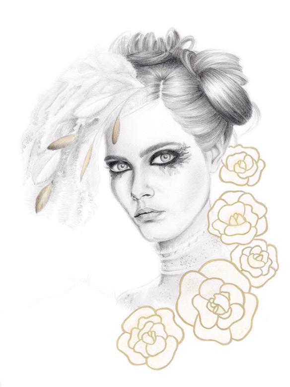 Chanel Fall 2013 fashion illustration