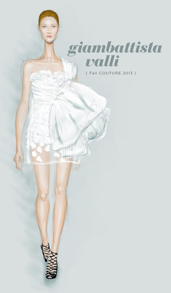 Giambattista Valli Fall 2013 fashion illustration