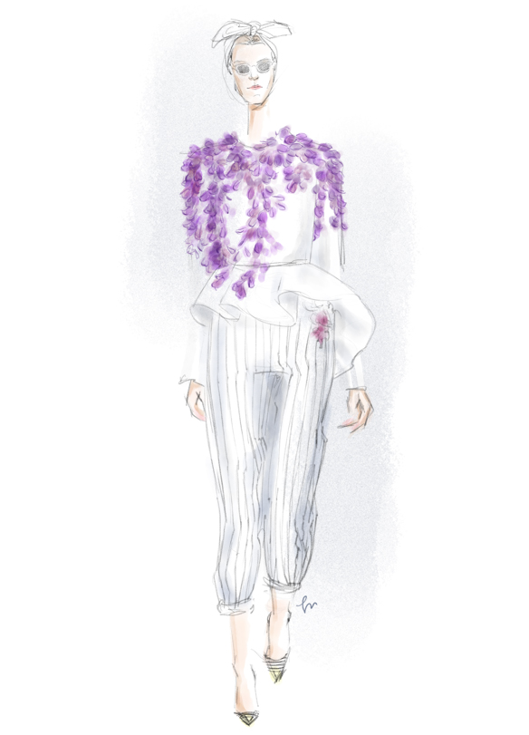 Giambattista Valli Fall 2014 fashion illustration