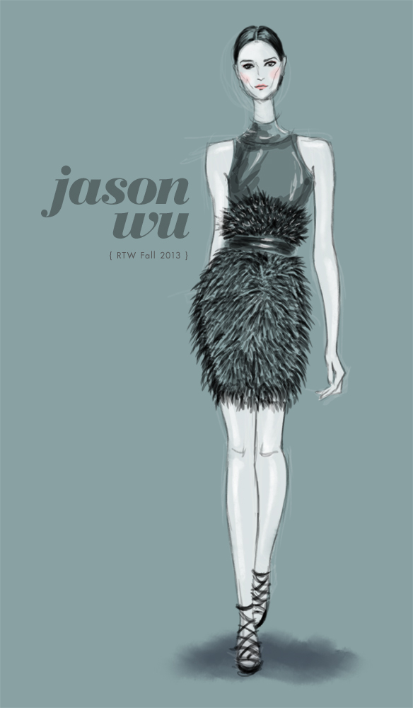Jason Wu Fall 2013 fashion illustration