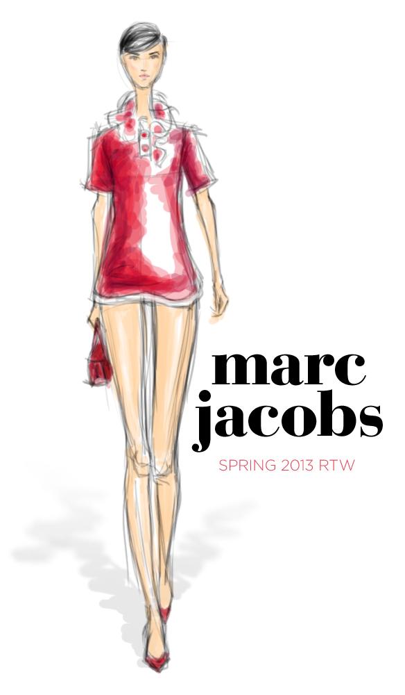 Marc Jacobs Spring 2013 fashion illustration