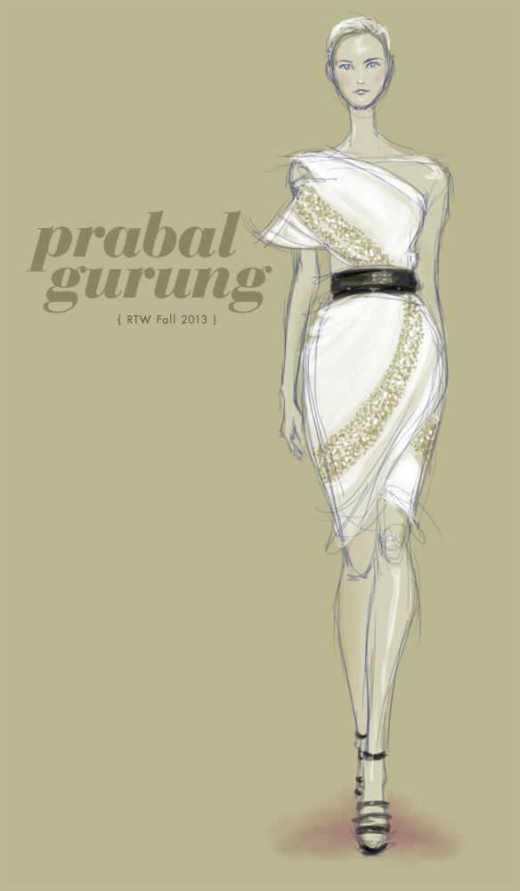 Prabal Gurung Fall 2013 fashion illustration