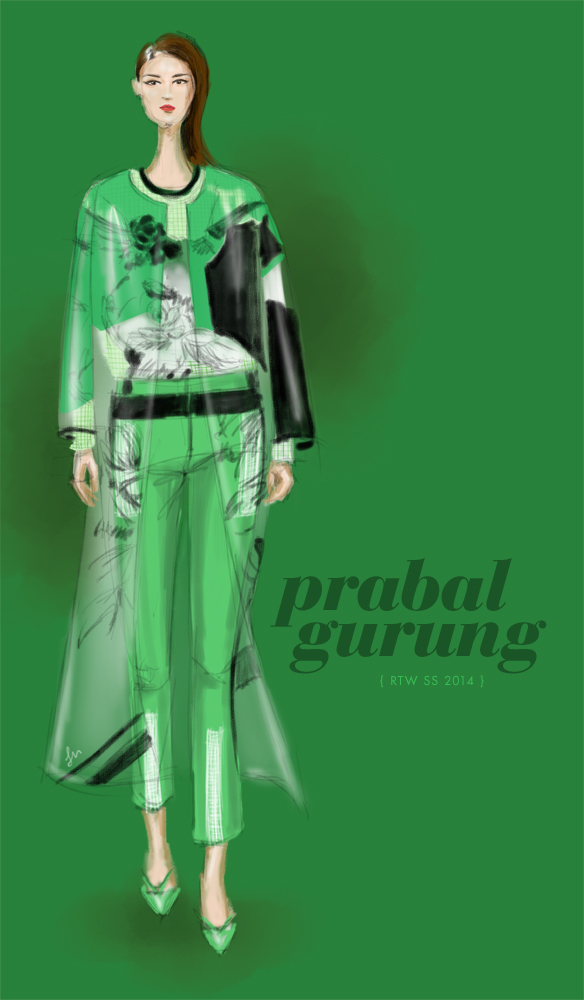 Prabal Gurung Spring 2014 fashion illustration