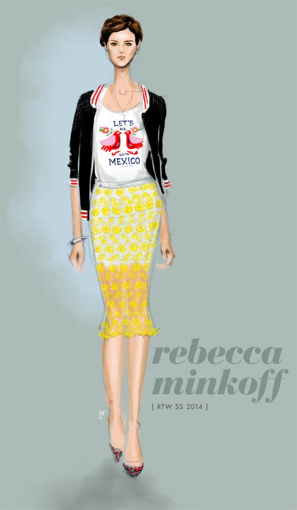 Rebecca Minkoff Spring 2014 fashion illustration