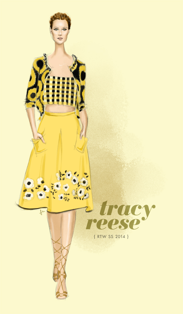 Tracy Reese Spring 2014 fashion illustration