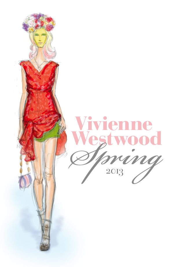 Vivienne Westwood Spring 2013 fashion illustration