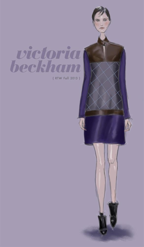 Victoria Beckham Fall 2013 fashion illustration