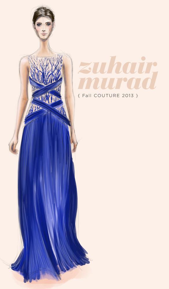 Zuhair Murad Fall Couture 2013 fashion illustration