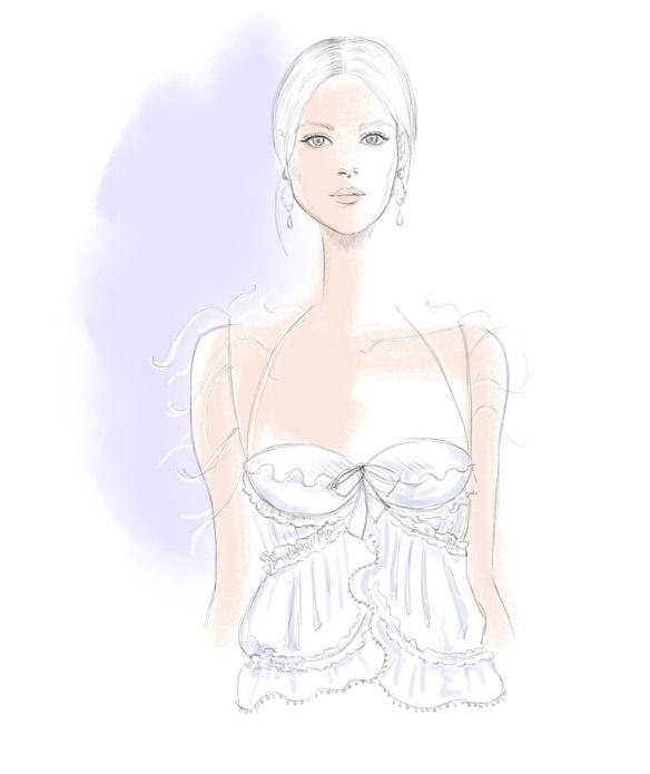 Balenciaga Spring 2016 fashion illustration