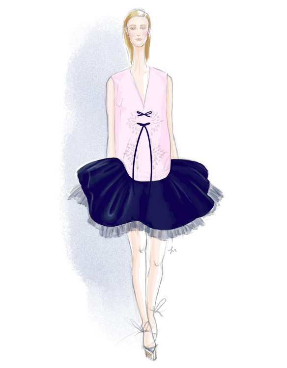 Delpozo Spring 2016 fashion illustration