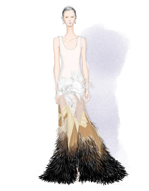 Givenchy Spring 2016 fashion illustration