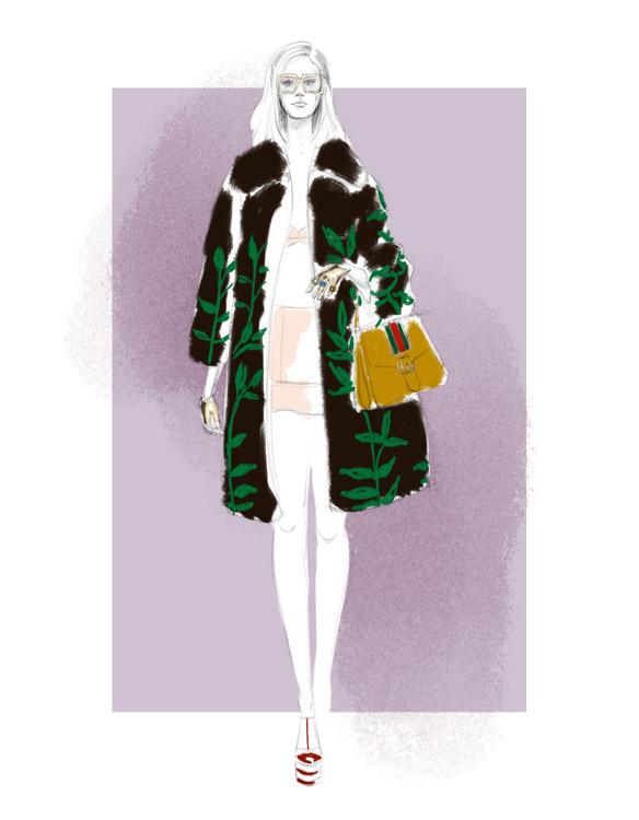 Gucci Spring 2016 fashion illustration