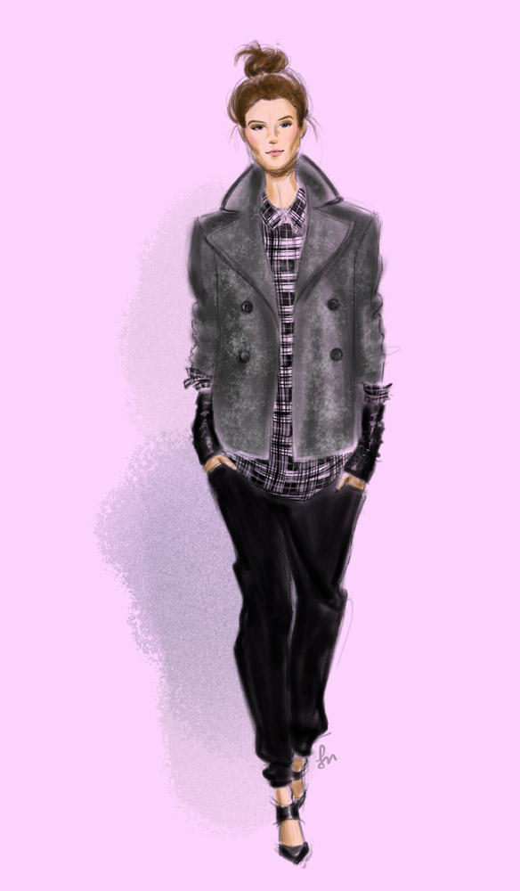 Marissa Webb Fall 2014 fashion illustration