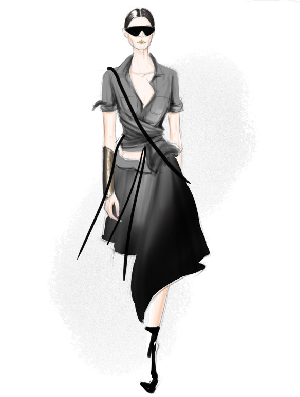Nicholas K Spring 2016 fashion illustration